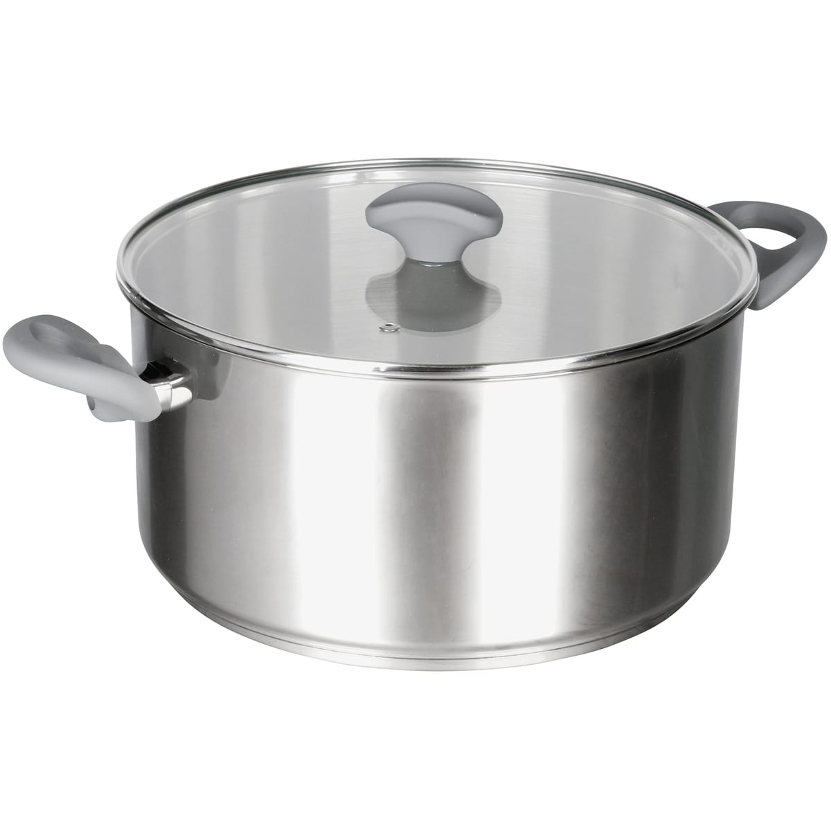stainless steel casserole with side handles and knob by la termoplastic fbm