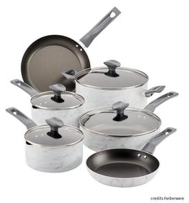 Cookware set of marble pot and pan FBM La Termoplastic